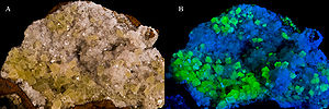 Adamite with Hemimorphite - Ojuela Mine, Mapim...