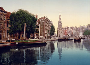 The Singel in Amsterdam, the Netherlands viewe...