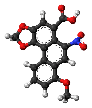 Ball-and-stick model of the aristolochic acid ...