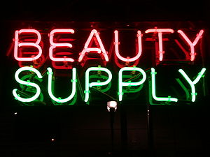 "Neon Sign ""Beauty Supply"", New Jerse..."