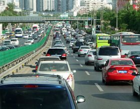 English: Traffic jam in Beijing