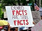 Proteste gegen die Leugnung der menschengemachten globalen Erwärmung beim Climate March im April 2017 in Washington D.C.