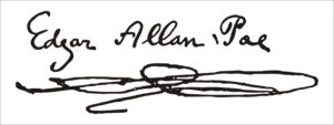 Edgar Allan Poe firma reconstrucción
