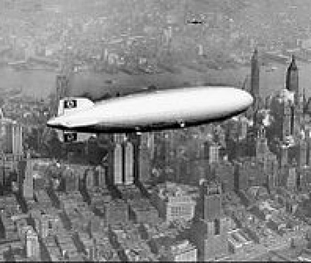 The Hindenburg Over Manhattan New York On May 6 1937 Shortly Before Its Demise