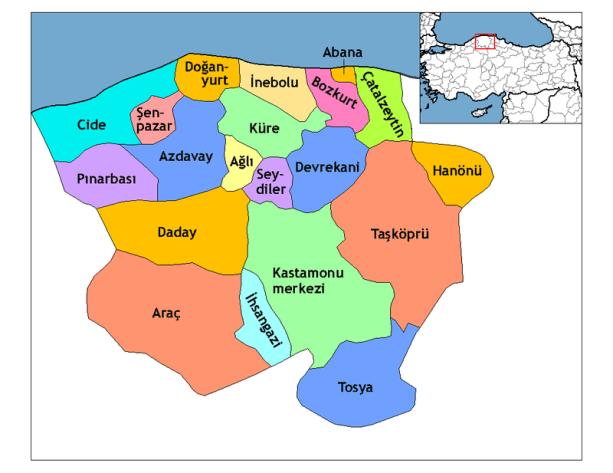 Kastamonu haritası