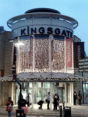 English: An entrance to the Kingsgate Shopping...