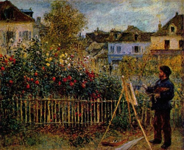 """Claude Monet Painting in His Garden at Argenteuil"" by Pierre-Auguste Renoir"