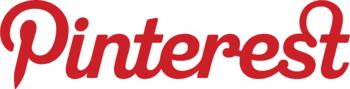 English: Red Pinterest logo