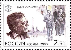 2000 Russia 2 rub 50 kopeks stamp. Dmitri Shos...