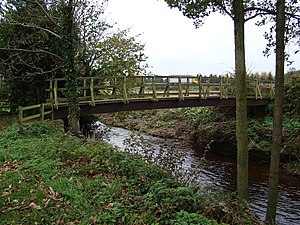 English: Sinnington Footbridge Footbridge cros...
