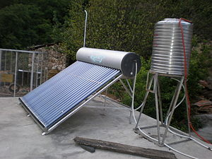 Solar panels to heat hot water at the Tea-Hors...