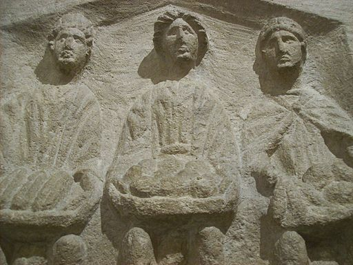 Three Goddesses, Roman high relief sculpture