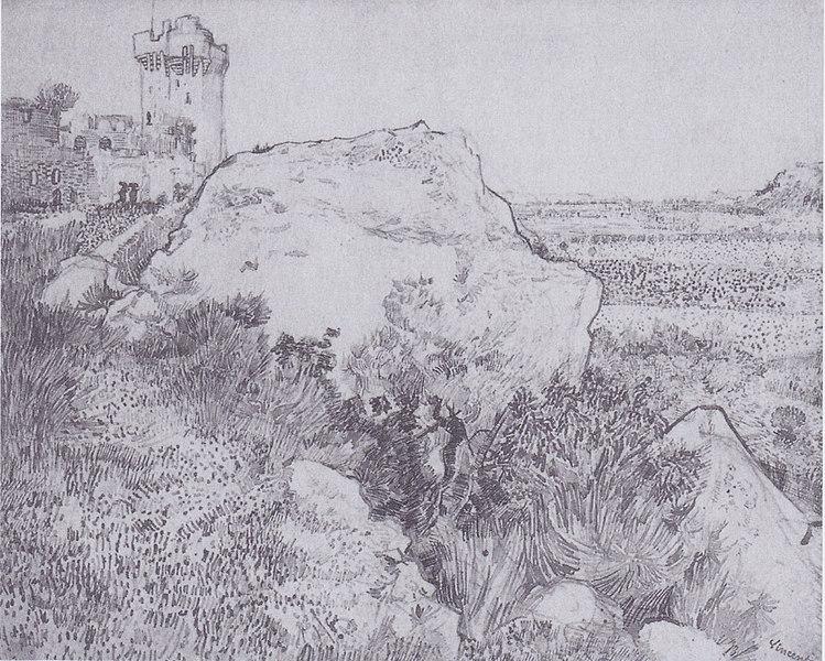 File:Van Gogh - Hügel mit der Ruine von Montmajour.jpeg