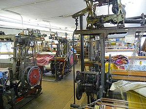 English: Whitchurch - Silk Mill The weaving ro...