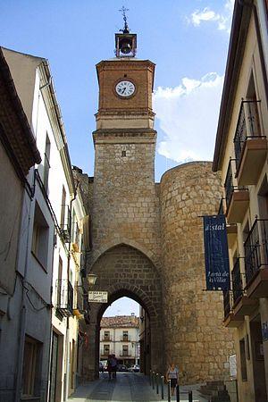 English: Puerta de la Villa, en Almazán (Soria)