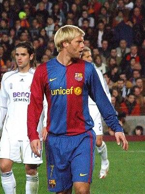 Eiður Guðjohnsen, Futbol Club Barcelona's play...