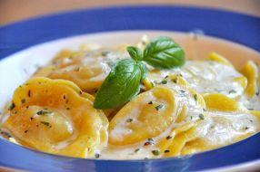 Flickr - cyclonebill - Ravioli med skinke og asparges i mascarponecreme