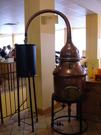 Small perfume distillery on display at the Fra...