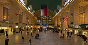 A 4 segment panorama of the Grand Central Stat...