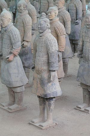 Group of terracotta warriors at Xian