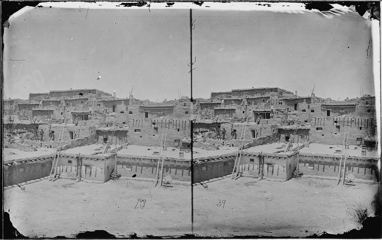 FileIndian Pueblo of Zuni New Mexico view from the interior 1873  NARA  519763jpg
