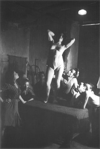 FileInterior Of A Brothel In Naples Italy 1945 8 Prostitute Dancing On Tablejpg