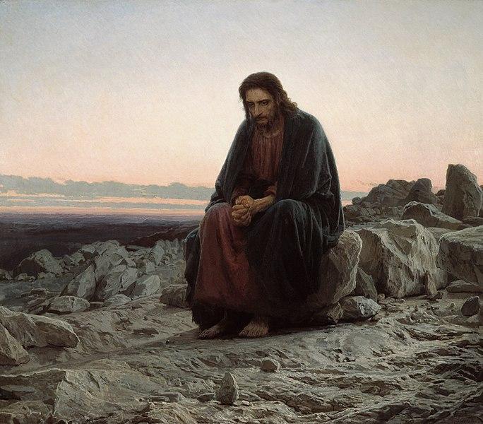 Ivan Kramskoy - Christ in the Wilderness // larryhuntbiblecommentary.wordpress.com
