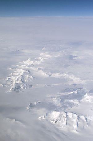 Larsen Ice Shelf photo taken fom a NASA DC-8