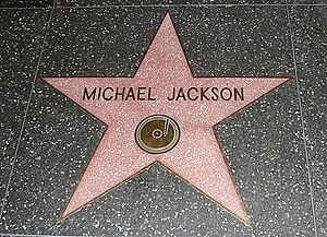 English: The star of Michael Jackson on the Wa...