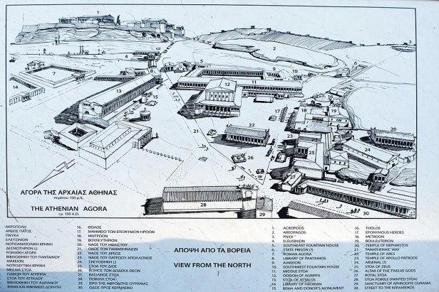 Map of ancient agorà