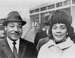 Martin Luther King, Jr. and Coretta Scott King.