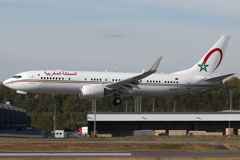 File:Morocco Air Force Boeing 737-8KB(BBJ2) Bakema-1.jpg