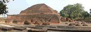 Stupa of Sariputta's relics in Nalanda Univers...