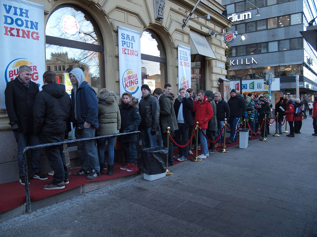 File Queue To Burger King In Helsinki Finland Jpg