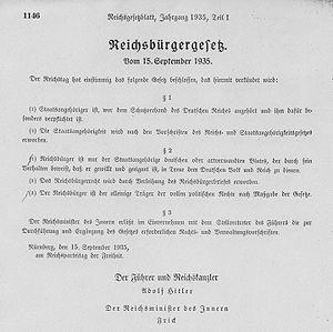 Reichsbürgergesetz v. 15.9.1935 - RGBl I 1146