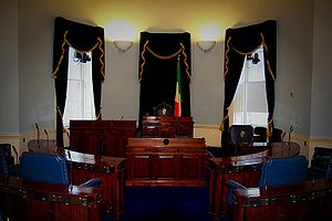 English: This is a photograph of the Seanad ch...