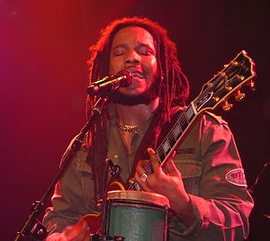 Reggae artist Stephen Marley performing in Van...