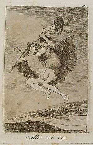 Capricho nº 66: Allá va eso de Goya, serie Los...