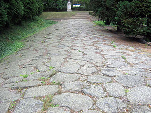 English: Ancient roman road which leaded from ...