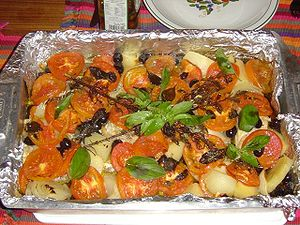 a traditional bacalhau (stockfish) dish from P...