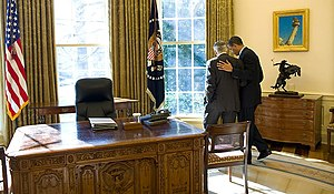 President Obama talks alone with Senate Majori...