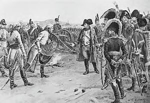English: General Mack surrenders his army at U...