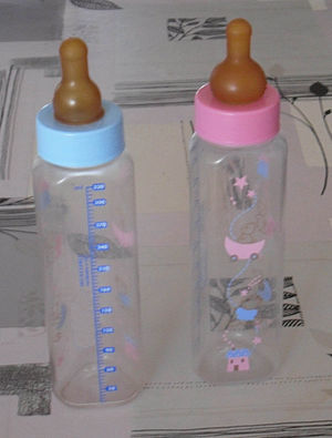 Two baby's bottles