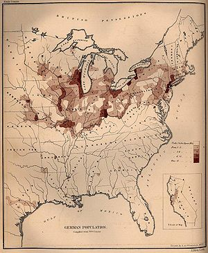 German population density in the United States...