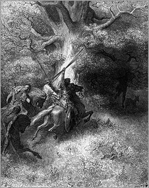 The Death of Absalom by Gustave Dore