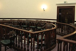 The jury box in the Pershing County, Nevada, C...
