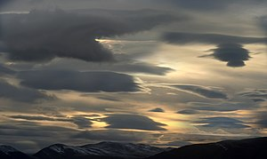 Lenticular clouds in High Arctic photo montage...