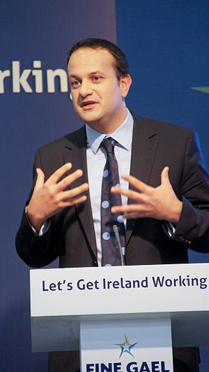 Leo Varadkar TD at a Fine Gael press conferenc...