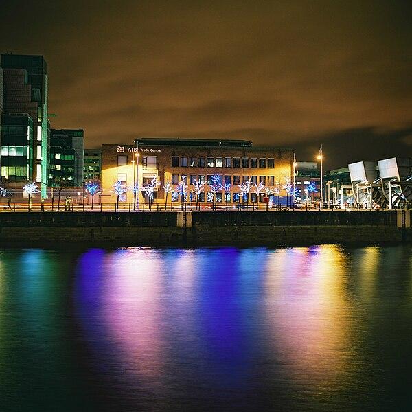 North Dublin at night