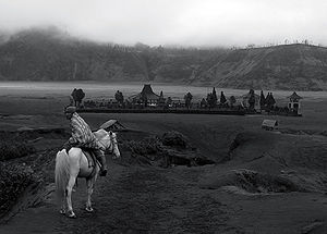 Mount Bromo also Gunung Bromo, located in the ...